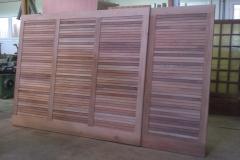 Portes garage bois